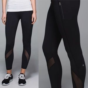 Lululemon Inspire Tight Mesh & Side Zipper Pocket